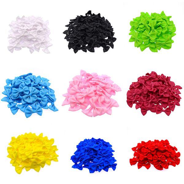 90-100 Pcs/lot Mini Small Ribbon Pet Bowknot Craft ONLY BOW NO CLIPS DIY Bow Tie Wedding Decor Hair Accessories PB002