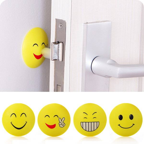 best selling 2PCS Silicone Self Adhesive Wall Protectors Door Handle Bumpers Buffer Guard Stoppers Crash Pad Doorknob Lock 4CM