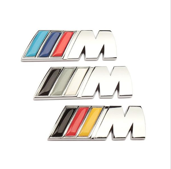 Top Quality Car Sticker Emblem Badge 3D Metal Decal For BMW M Power Performance 3 4 5 6 7 E Z X M3 M5 M6 E46 E30 E34 Car Styling Accessories