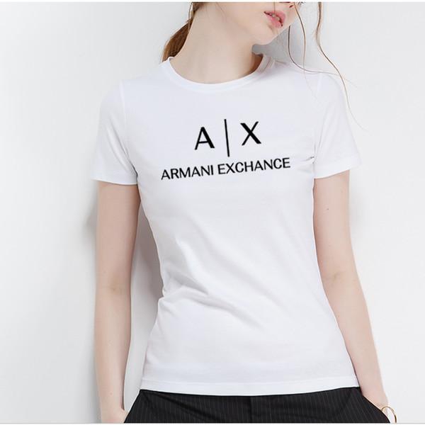 2018 verão novas mulheres Casual manga curta T-shirt, marca de moda T-shirt impressa bonito T-shirt.