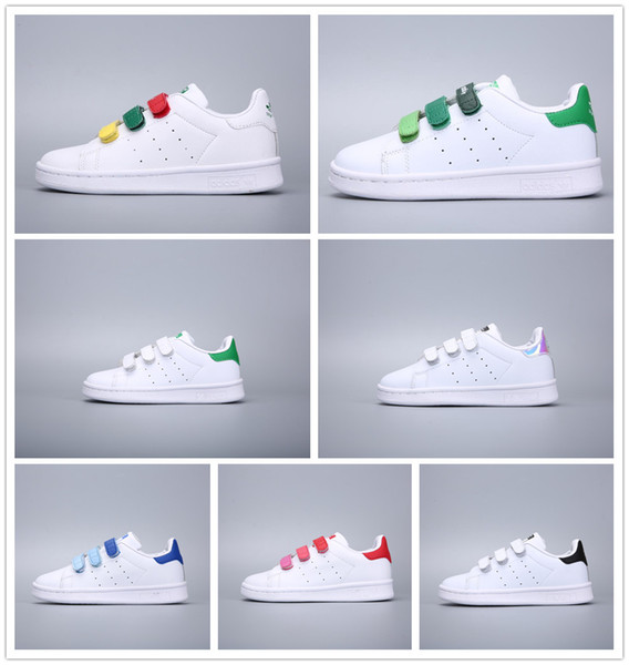 detailed look d0bc8 74d1f Adidas Stan Smith Scarpe Superstar per bambini di marca Bianco originale per  bambini bimbi Superstars Sneakers