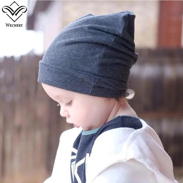 Wechery Kids Bonnet Enfant Little Boys Girls Beanie Cute Solid Winter Hat New Fashion Warm Caps for Children