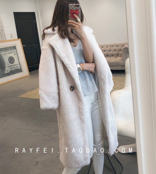 united kingdom promotion special for shoe 2018 2018 New Teddy Bear Imported Lamb, Medium Length Coat, Sheared Fur,  Loose Coat Woman From Luhaluha, $423.16 | Dhgate.Com
