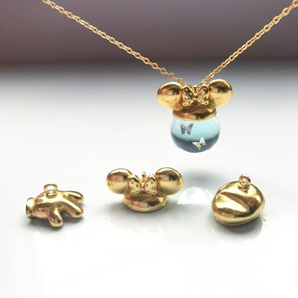 10pcs / lot Katzenohren-Hasenohr-Hutkorn-Kappen hängende Schnalle kann mit 12-18mm hängendem dreidimensionalem Ball DIY jewelr verwendet werden