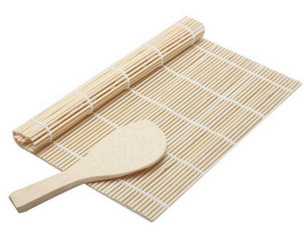 Utensili per sushi Rolling Roller Bamboo Mat Mat Maker DIY e una paddle per riso