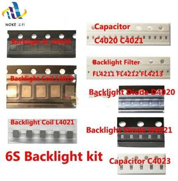 20sets/lot back light fix kit for iPhone 6S Backlight ic U4020 +Coil L4020 L4021+ Diode D4020 D4021 + C4023 C4022 C4021 +filters