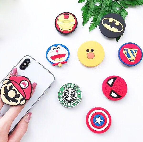 Universal 360 Degree Super Hero Superman Batman Spiderman Finger Ring Holder Phone Stand For iPhone 7 6s Samsung Mobile Phones Free DHL
