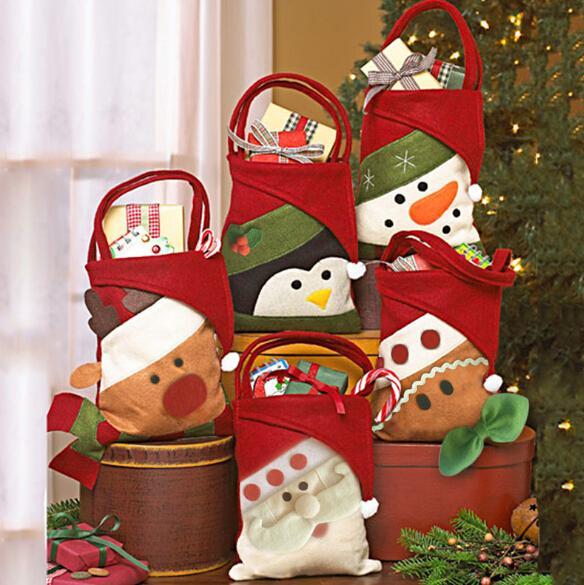 Sacs De Bonbons De Noël Petit Cadeau Sac Holder Sac À Main Maison Partie Décoration Sac Cadeau De Noël Décoration Fournitures