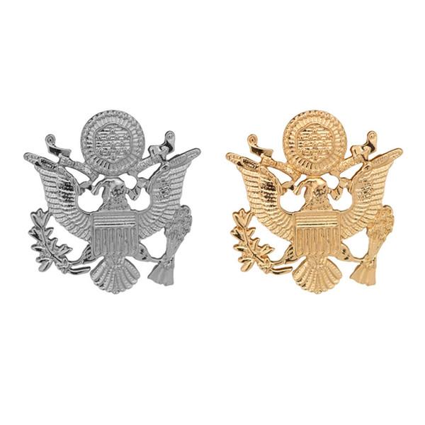 Nouvelle mode européenne et américaine boucle ardillon personnalisé rétro gilet double - tête aigle insigne hommes broche costume