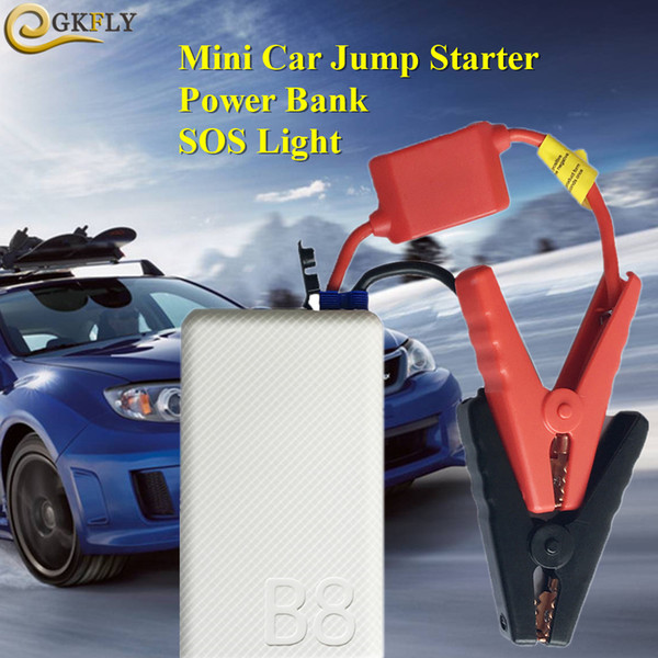 Mini Portable 10800mAh Car Jump Starter Mobile Phone Power Bank 12V 400A Starting Device Car Charger For Battery LED