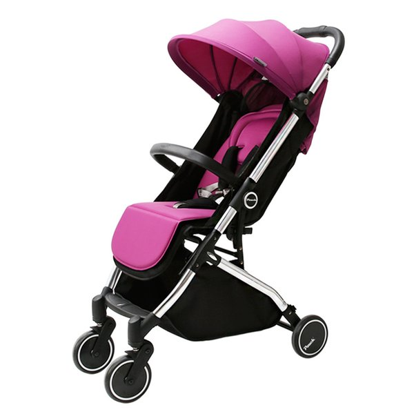 6.5kg Pouch Portable Light Baby Stroller/ Pram , 4 Wheel Folding Pushchair, Can Sit & Lie Down Children Trolley