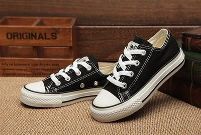 top popular New brand kids canvas shoes fashion high - low shoes boys and girls sports canvas children shoes sizes 24-34 2021