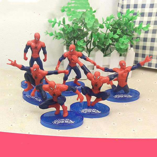 7 teile / satz Cartoon Spiderman Kuchen Junge Party Cupcake Topper Picks Kinder Baby Shower Geburtstag Kuchen Top Dekoration Familie Party Cupcake Liefert