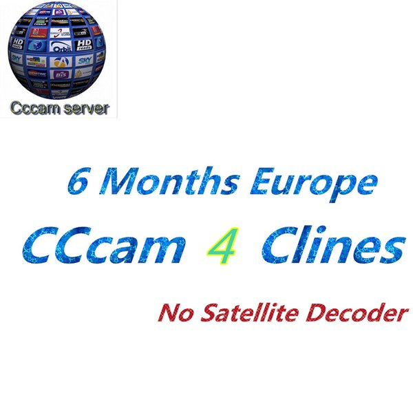 Best 6 months Europe CCcam 4Clines for Full HD 1080P Spain UK Portugal Germany Italy Polish TV free shipping