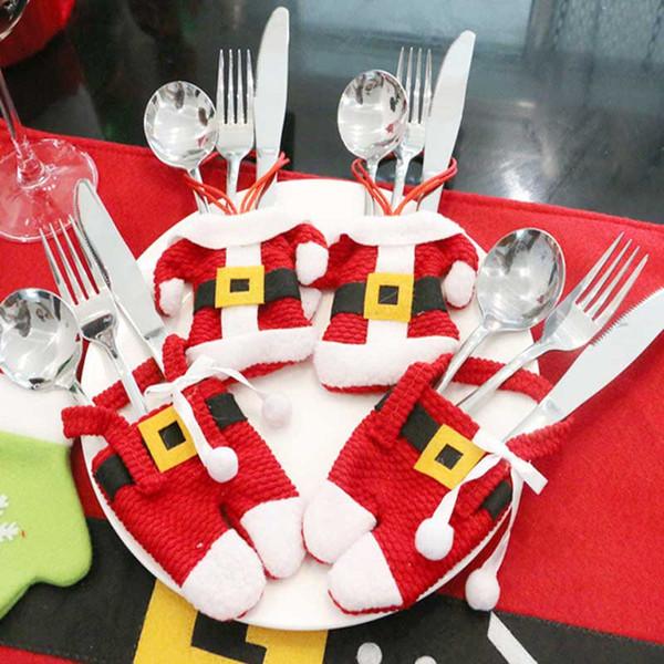 Neujahr Geschenk Fancy Santa Weihnachten Tisch Dekorationen Besteck Halter Taschen Dinner Table Decor Home Dekoration
