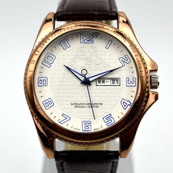 Top selling high quality luxury men 3ATM AAA brand leather quartz wrist watch simple auto date men dress watch wholesale men's gifts saati