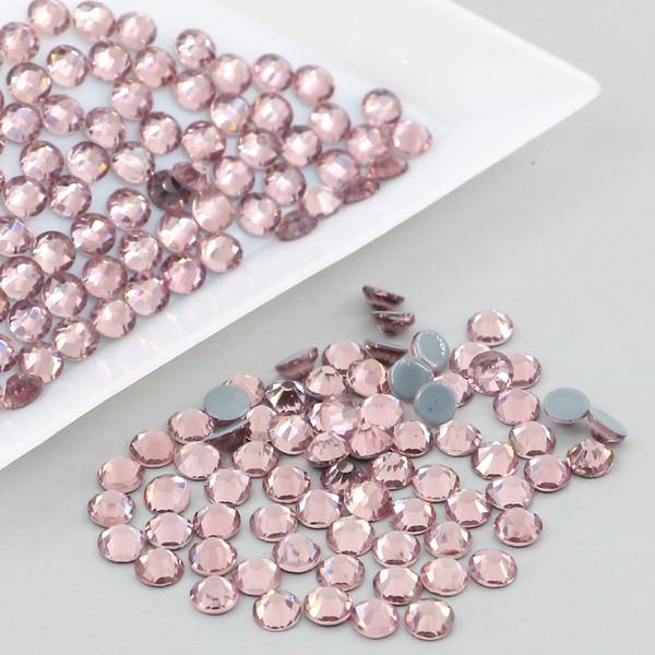 best selling Wholesale Lot 1440 SS6-SS20 Austrian Crystal HOTFIX Glue Flatback Round Rhinestone Xilion Rose 2028# (Lt.Amethyst)