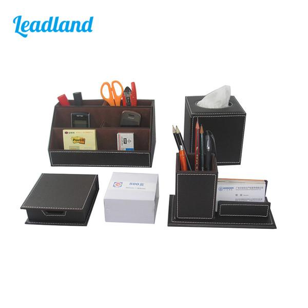 Großhandel Kingfom Desktop Organizer Set 5 Slots Desktop Organizer Box Stifthalter Visitenkartenetui Memo Box Cube Tissue Case T43 Von Fair2015