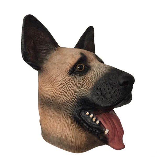 2018 Hot Latex Wolf Dog Mask Halloween Horror Party Mask Masquerade Performance Animal Shape Headgear