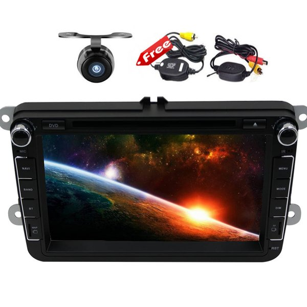 "8"" Andorid 7.1 Multimedia Player Double 2Din car dvd In Dash Octa Core 2GB RAM 32GB ROM GPS Navigation MAP Bluetooth HeadUnit"