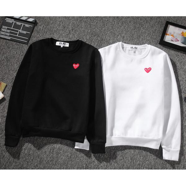 COMM DES G GARCONS CDG HOLIDAY Cuore Emoji GIOCO heart tide marchio manica lunga maglione con cappuccio cardigan amore con cappuccio