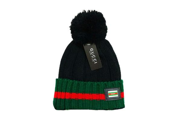 hot fashion classic eng anliegende Strickpullover plus Ballhut die beste Qualität der Kopfbedeckungen für Damen