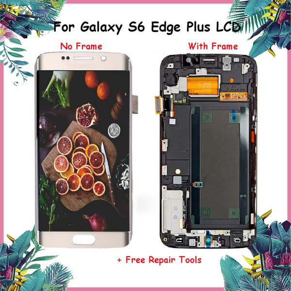 """Original 5.7"""" AMOLED Replacement For Samsung Galaxy S6 Edge Plus G928 LCD Display G928F Digitizer Touch Screen +Frame Assembly"""