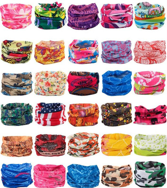 top popular Bandanas Scarves Multifunctional Outdoor Cycling Masks Scarf Magic turban Sunscreen Hair band Riding Cap Multi Styles 2020