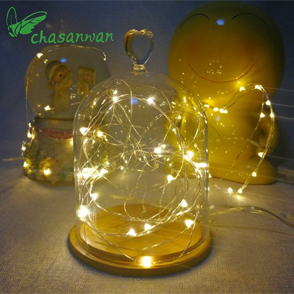 2m 20LED Copper Wire String Light Valentines Wedding Decoration Lamp Party Christmas Decorations for Home New Year Decoration,Q D18110603