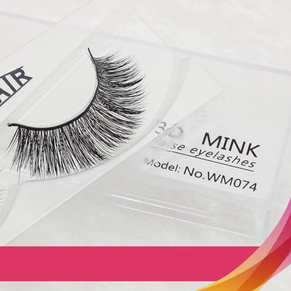 Lindo Euro Elegante Mink Cabelo Cílios Natural Criss Curl Falso Extensão Dos Cílios Maquiagem Diária Maquiagem Nude Sexy 3D Lash Grosso Longo Eyelas