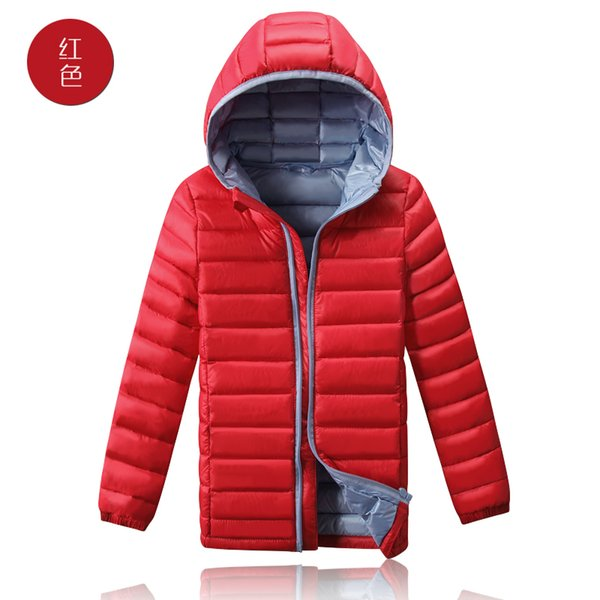 Clearance 90% white duck down unisex kids coat hooded patchwork long-sleeve boys girls jacket winter warm thin parkas outerwear