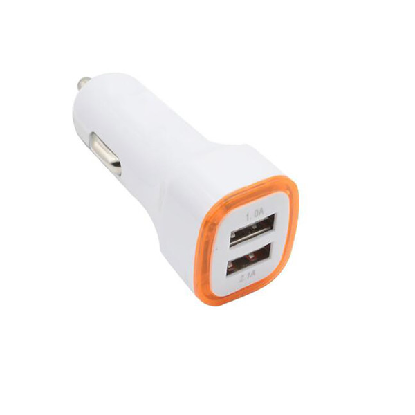5V 2.1A Dual USB Ports Led Light Car Charger Adapter Universal Charing Adapter for iphone Samsung S7 HTC LG Cell phone DHL free