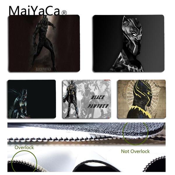 MaiYaCa My Favorite Marvel Black Panther Mouse pad PC estera de la computadora portátil Envío gratuito grande Mouse Pad teclados Mat