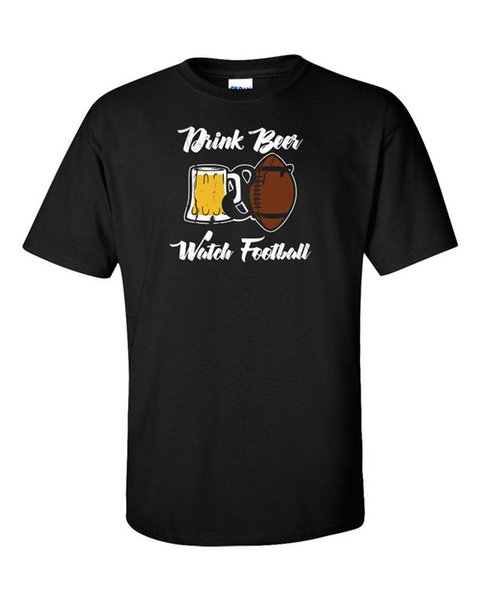 Adult T Shirt S-2Xl Crew Neck Short-Sleeve Best Friend Drink Watch Footballer Shirts For Men