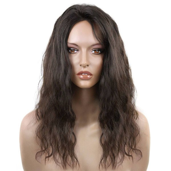 Pretty 8a cheap beauty 100% unprocessed raw virgin remy human hair long natural color water wave full lace cap wig for women
