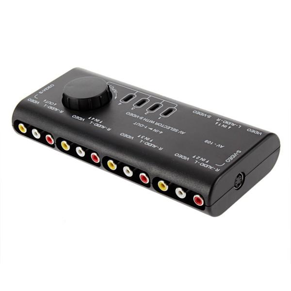 nuovo 4 in 1 Out AV RCA Switch Box AV Audio Video Switcher del segnale Splitter 4 Way Selector con cavo RCA Per TV DVD VCD TV