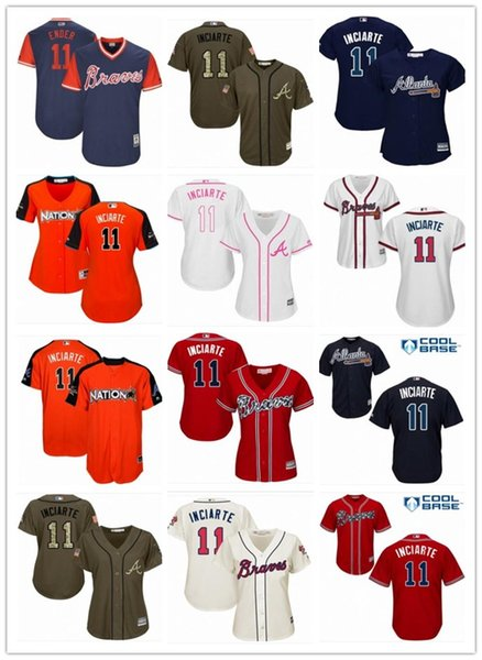 competitive price 032c4 76fec 2018 2018 Atlanta Braves Jersey 11 Ender Inciarte Men#women#youth#men'S  Baseball Jersey Majestic Stitched Jersey. From Jersey_best08, $26.14 | ...