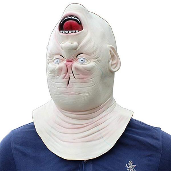 1pc Halloween Terror Shaped Head Alien Elderly Men's Mystery Monster House Zombie Devil Mask for Halloween Party Decor Supplies