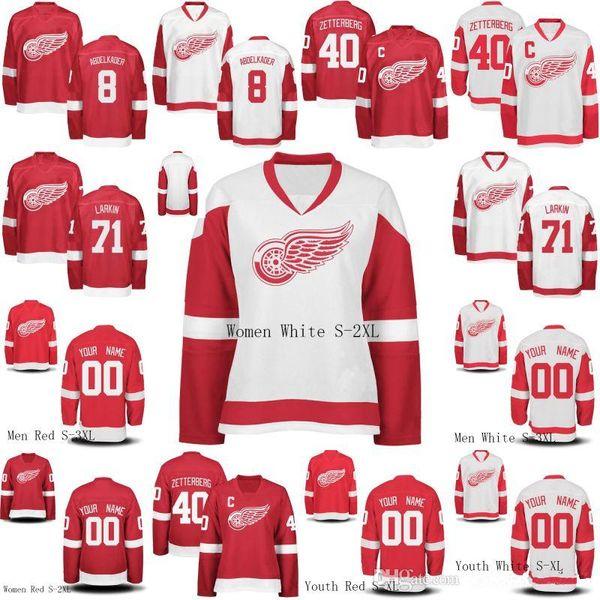 100% authentic 0b6e8 bc9b5 2019 Mens Womens Youth Detroit Red Wings 72 Andreas Athanasiou 71 Dylan  Larkin 8 Justin Abdelkader 40 Henrik Zetterberg Custom Hockey Jerseys From  ...