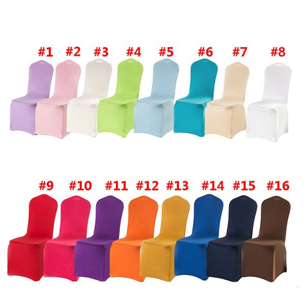 Wolesale hotel hotel chair cover wedding wedding 16 colors with thick white elastic high-end banquet chair cover free shipping