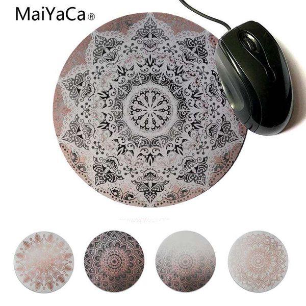 MaiYaCa Cool New Black dancing mandala small Mouse pad PC Computer mat Round mouse pad 22x22cm 20x20cm