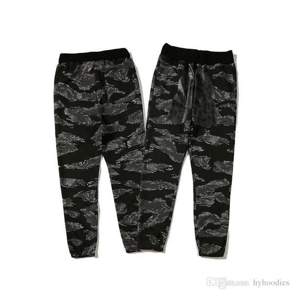 Autumn Winter New Lover's Loose Camo Tiger Print Pants Men Women Camo Kanye West Hip Hop Cotton Sweatpants