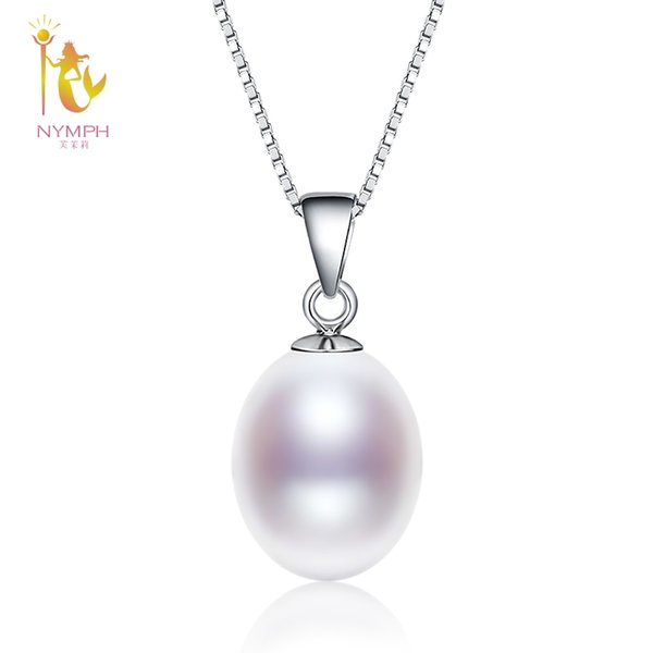 NYMPH Pearl Necklace Pendant Fine Jewelry 925 Sterling Silver Natural Freshwater Pearl Jewelry Christmas Party For Women D02 S18101308