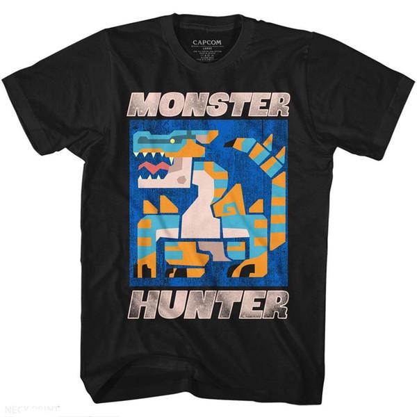 MONSTER HUNTER erkek Kısa Kollu T-Shirt SIYAH SCRAY Yaz Erkekler 'S moda Tee Rahat Rahat Kısa Kollu t shirt