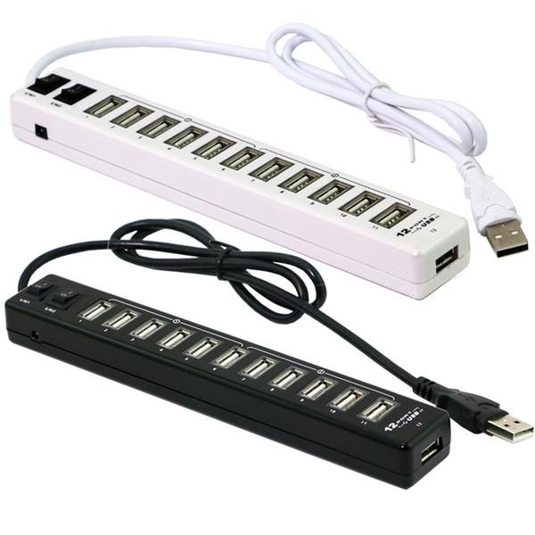 Etmakit Bonne Vente 12 Ports USB Hub 2.0 Haute Qualité USB 2.0 Hub Splitter 2 Switch pour Macbook Air Ordinateur Portable PC Ordinateur