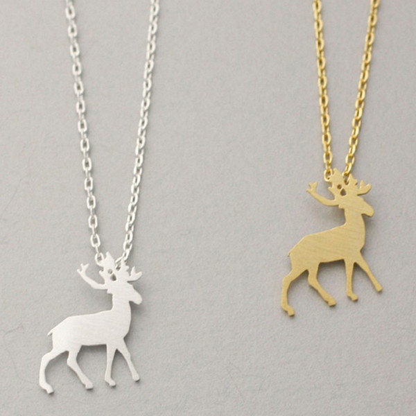 Wholesale Wholesale Fashion Jewelry Origami Antler Deer Pendants And