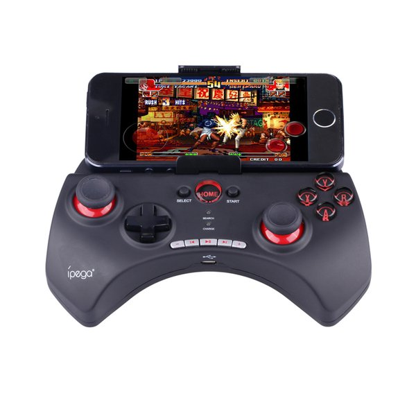 2018 Venta caliente iPega PG-9025 9025 Controlador de juegos inalámbrico Bluetooth Gamepad Joystick para iPhone iPad Proyector CAJA TV teléfonos Android PC