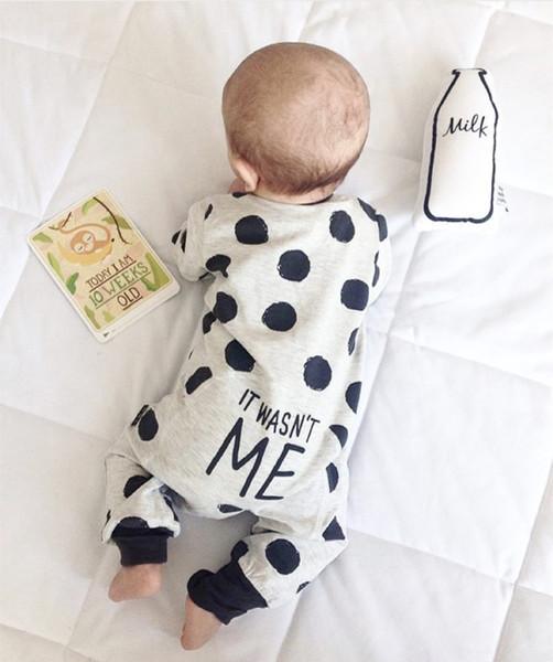 2018 Modo caldo di vendita Baby Boy Girl vestiti neonato T-shirt a maniche lunghe Dot abbigliamento infantile set Outfits