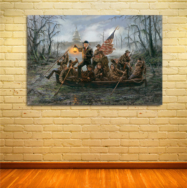 best selling Crossing the Swamp, artwork print on canvas modern high quality wall painting for home decor unframed pictures