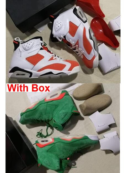 sports shoes 559bc 51dc5 Gatorade 6 Be Like Mike White Green 6S VI UNC NRG G8RD Pine Green Suede  Maroon GATORADE 6s With Box Basketball Shoes Athletic Shoes Shoes Online  From ...